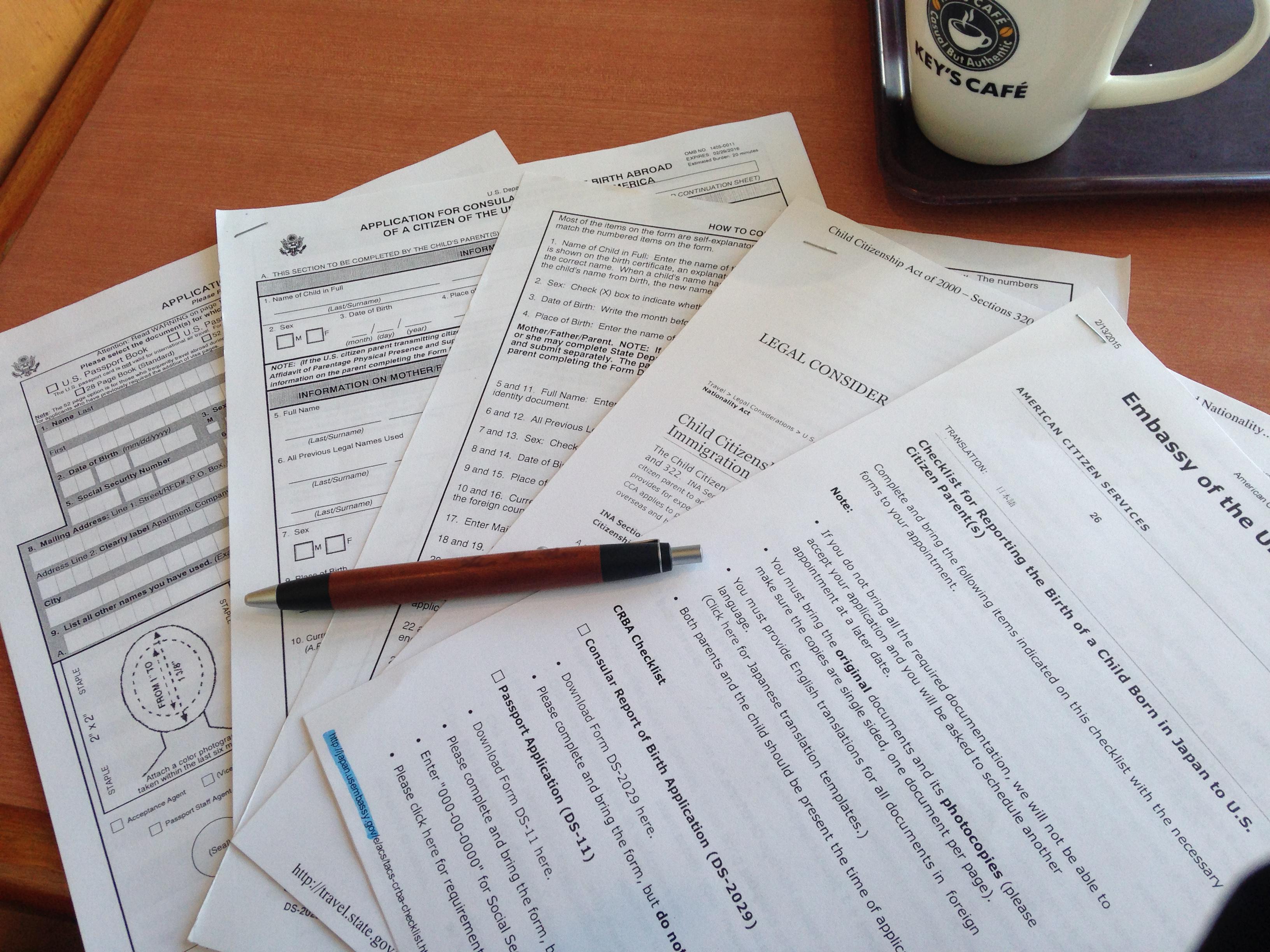 学生ビザ申請書類