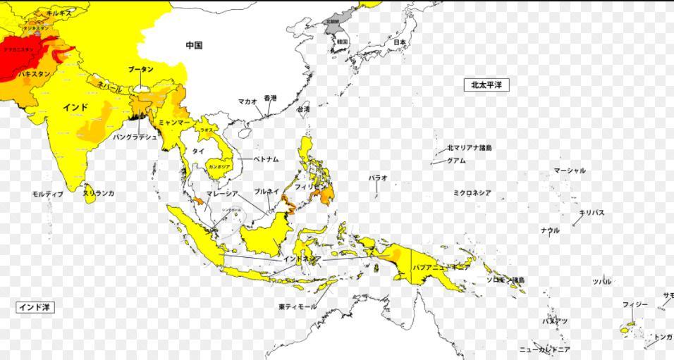 東南アジアの危険度